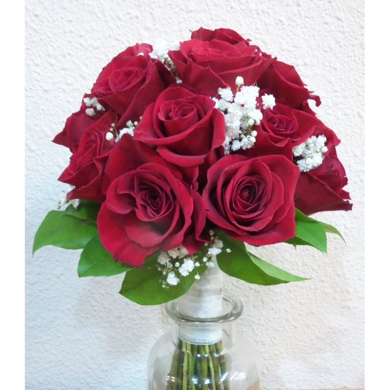 Bouquet Rosas Rojas 7deflors