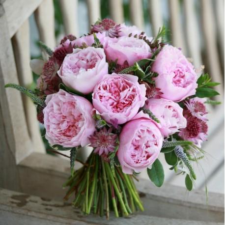 Ramo de novia rosas David Austin