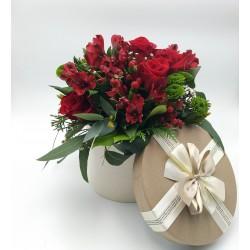 CAJA PASIÓN de flores con rosas
